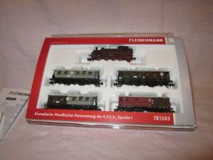 Fleischmann/Piccolo Spur N 781503 Personenzug-Set K.P.E.V in OVP selten (54)