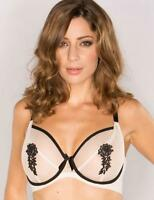 Pour Moi? Boudoir Full Cup Underwired Bra 9302 Nude/Black * New Lingerie