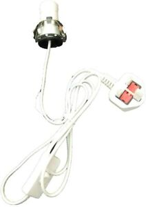 Himalayan salt lamp Replacement Light Fitting E14 bulb holder WHITE