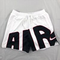 Nike Air More Uptempo DNA Mesh Basketball Shorts White Black BV7737-100 Mens XXL