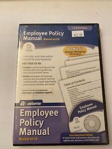 Adams Employee Policy Manual On CD
