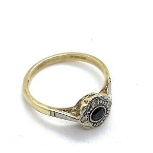 Vintage 18ct Gold Diamond Ring #549
