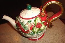 Fitz & Floyd 1994 Omnibus Baroque Holiday Teapot