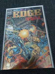 Marvel Double Edge Omega 1 vfn Rare Holofoil cover