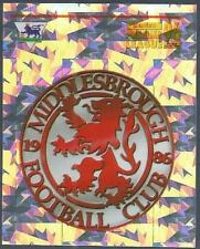 MERLIN 1996-PREMIER LEAGUE 96 - #480-MIDDLESBROUGH TEAM BADGE-SILVER FOIL