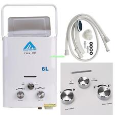 LPG Propane Gas 6L Tankless Hot Water Heater Boiler Protable Home Oudoor Camper