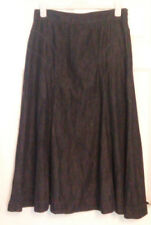 Per Una Marks and Spencer Blue Denim Dark Wash Cotton A Line Skirt UK Sz 14 Long