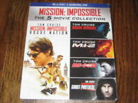 Mission Impossible 5 Movie  Collection  Blu Ray + Digital HD! New! Rogue Nation