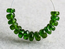 4-5mm. Natural Dark Green Chrome Diopside Faceted Rondelle Gemstone Beads