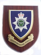 Staffordshire Police Wall Plaque UK Made for MOD