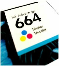 NEW HP 664 TRI-COLOR Original Ink Cartridge for Deskjet F6V28AL, Inkjet Printer
