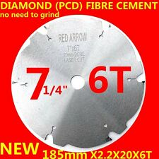 diamond circular saw blade 7inch 185mmX2.2X30(20)X6teeth PCD wood FIBRE CEMENT