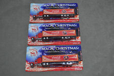 3x Kenworth Coca Cola Christmas Truck Lorry Holidays Xmas Santa Village Railway