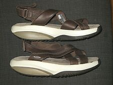 MBT HABARI BROWN LEATHER  SANDALS SHOES WOMEN'S SIZE 39 8.5