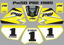 pw50 decals graphics yamaha pw 50 personal peewee laminated stickers old YELLOW
