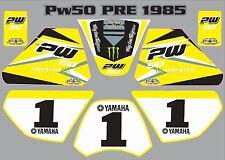 PW50 Stickers graphique Yamaha PW 50 personnel peewee stratifié autocollant