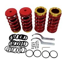 Front &Rear Suspension Coilover Lowering Spring Sleeve Kit Honda 88-00 Civic Red