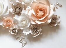 Pa-ula paper flower wall art, Nursery decoration, bedroom,
