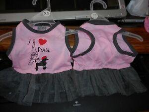 New Pet Clothes I Love Paris Poodle Dog Dress Extra Small Costume