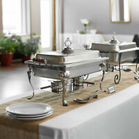 Full Size 8 Qt. Stackable Stainless Steel Chafer Chafing Dish
