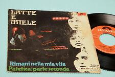 "LATTE E MIELE 7"" PATETICA ORIG ITALY PROG 1974 EX"