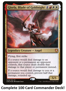 Gisela, Blade of Goldnight Commander Deck EDH 100 Magic Cards Custom MTG Angels