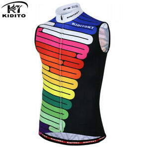 Men Cycling Sleeveless Tops One-piece Vest Cycling Quick Dry Clothing Equipment