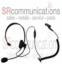Single Ear Boom Mic HEADSET Motorola TRBO XPR XPR6300 XPR6350 XPR6500 XPR6550