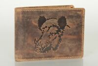 Greenburry Leder Portemonnaie Geldbörse Wildschwein Prägung 1705-Wild Boar-25