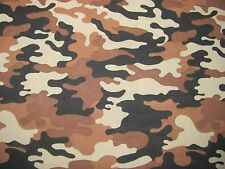 FABRIC Camouflage Woods Desert Hunting Sands Brush 4 Tone COTTON Priced Per YARD