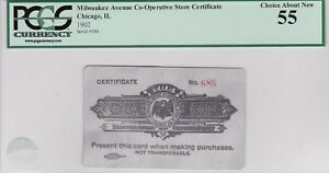 Chicago Il, wacky aluminum scrip, 1902, PCGS 55, Won't find another one