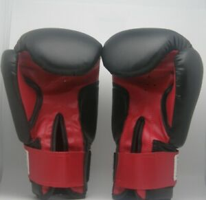Proforce: Kick: Boxing: Gloves: Black: Red Palm: Martial Arts: Cardio 14 Ounce