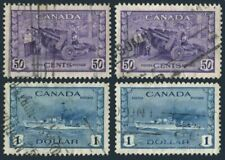Canada 261-262,used.Mi 228. Munitions Factory,Destroyer.1942.WW II contribution.