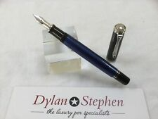 Pelikan Souveran M405 blue + platinum fountain pen 14C fine gold nib