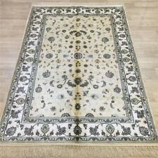 YILONG 4'x6' Yellow Handmade Silk Area Rug Lving Room Hand Knotted Carpets 056C
