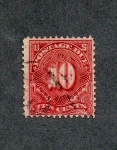 USA. 1890-1912 10c LAKE RED 'POSTAGE DUE' STAMP PERF 12. GU WATERMARK UNCHECKED.