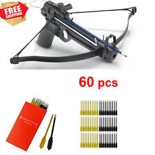 60 Premium Pistol Crossbow Sharp Arrows Men Gift Idea Ace Martial Arts 50-80 Lb