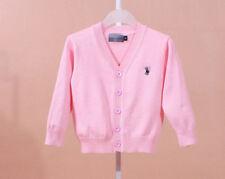 100% Cotton kids Cardigan Boys Girls Children's Knit Cardigan 7 colors 1-5 Y