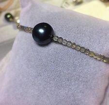 Perlenkönigin- Baroque Tahiti Zuchtperle TOP,  Labradorit Armband, 18 cm, neu