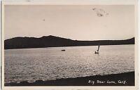 California Ca Real Photo RPPC Postcard c1940s BIG BEAR LAKE Sailboat 9