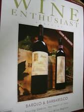Wine Enthusiast Magazine April 2004 Umbria, California, Barolo & Barbaresco,