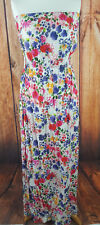 Floral Bandeau Maxi Dress Size 10 From Innocence Strapless Summer/Holiday Wear