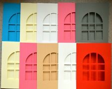 5 Card Blanks with Window Aperture 178 x 128mm 2 Colour Options NEW