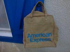 sac de voyage American Express vintage en toile