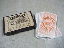 Vintage 1960's 70's Trolley The Great Card Game Deck B Shackman & Co W/Box