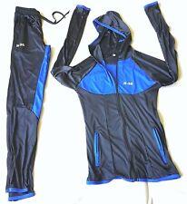Damen 2tlg Sets Trainingsanzug Jogginganzug Sport Hausanzug Blau Fitness Gr.L
