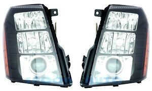 New Left Right Headlight PAIR FOR 2007 2008 2009 2010-2014 Cadillac Escalade
