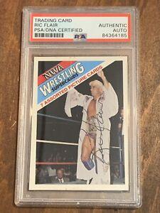 Ric Flair 1988 NWA Wonderama Header Signed PSA/DNA Authentic Autograph