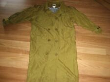 LADIES CUTE GREEN/BROWN LINED LONG SLEEVE COAT BY SCARPA - SIZE S AUS 10/12