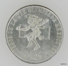 1968 Silver Olympic 25 Peso Mexico Coin Uncirulated UNC BU